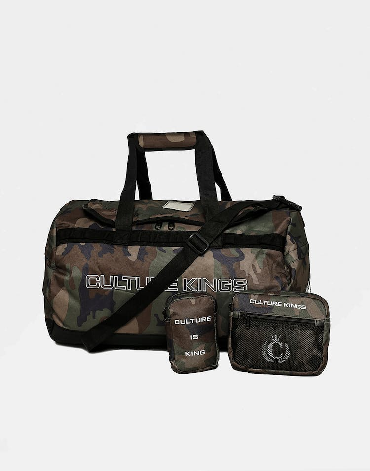 CULTURE KINGS NOT-FOR-SALE MULTI FUNCTION DUFFLE BAG CAMO