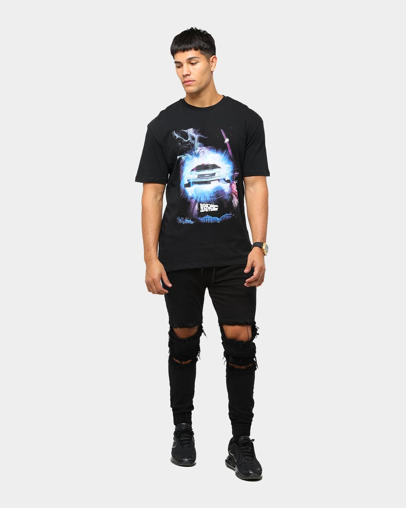 Criminal Damage x Back to the Future Men's Space in Time T-Shirt Black/Multi-Coloured
