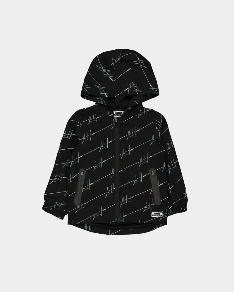 Lil Homme Bevel Windbreaker Black