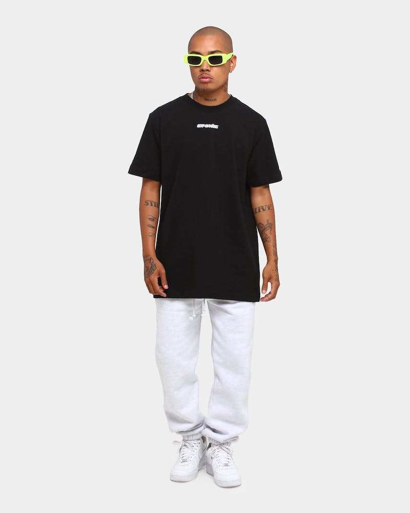 Off-White Marker Short Sleeve Slim T-Shirt Black/Red