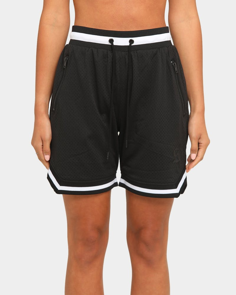 Saint Morta Men's Icon Mesh Basketball Short Black/White