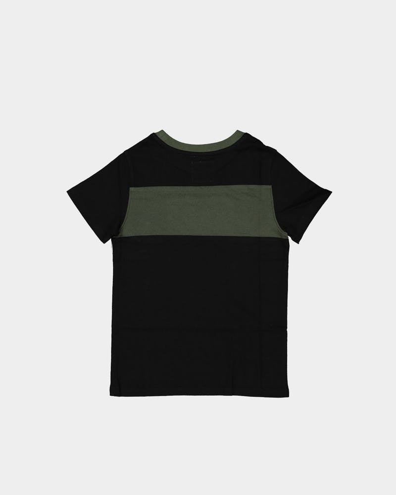 Lil Hommé Kids Roadman Tall Short Sleeve T-Shirt Black/Army Green