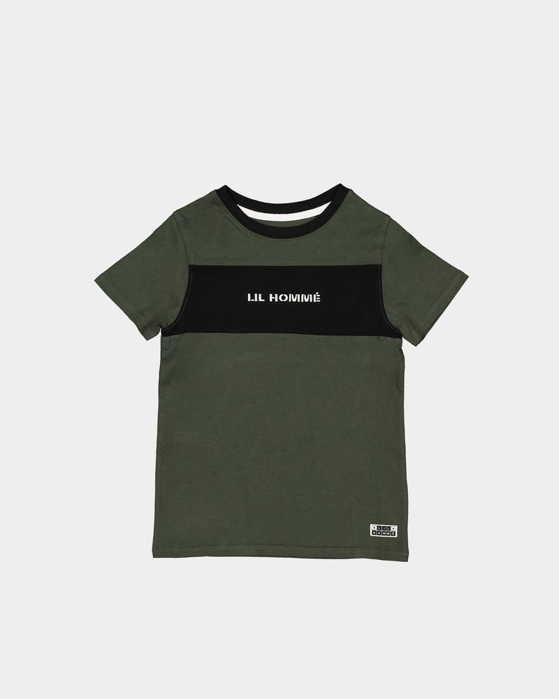Lil Hommé Kids Roadman Tall Short Sleeve T-Shirt Army Green/Black