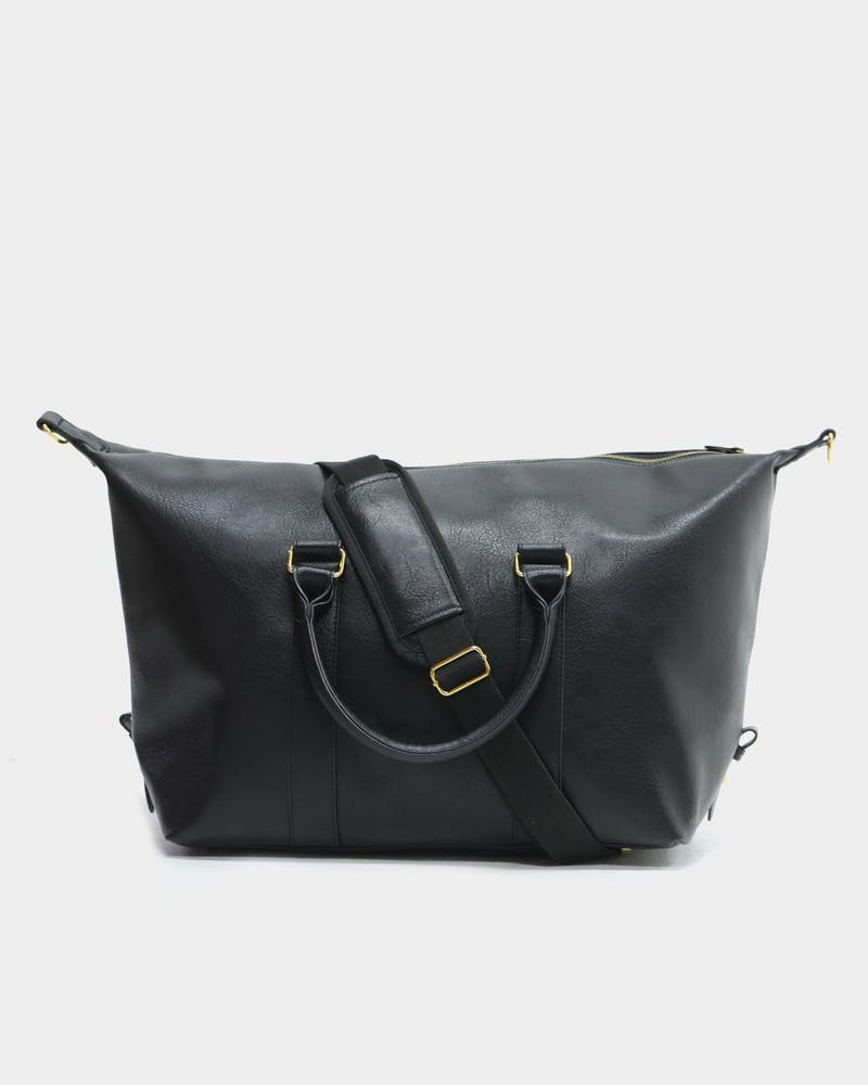 Culture Kings Weekender Bag Black/Gold