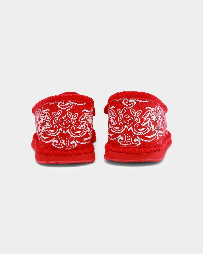Goat Crew Bandana Slipper Red/White