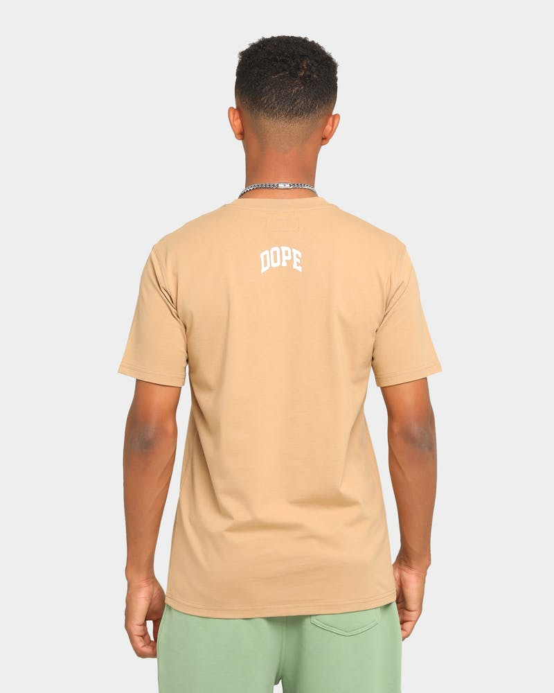 DOPE Arch Logo T-Shirt Taupe