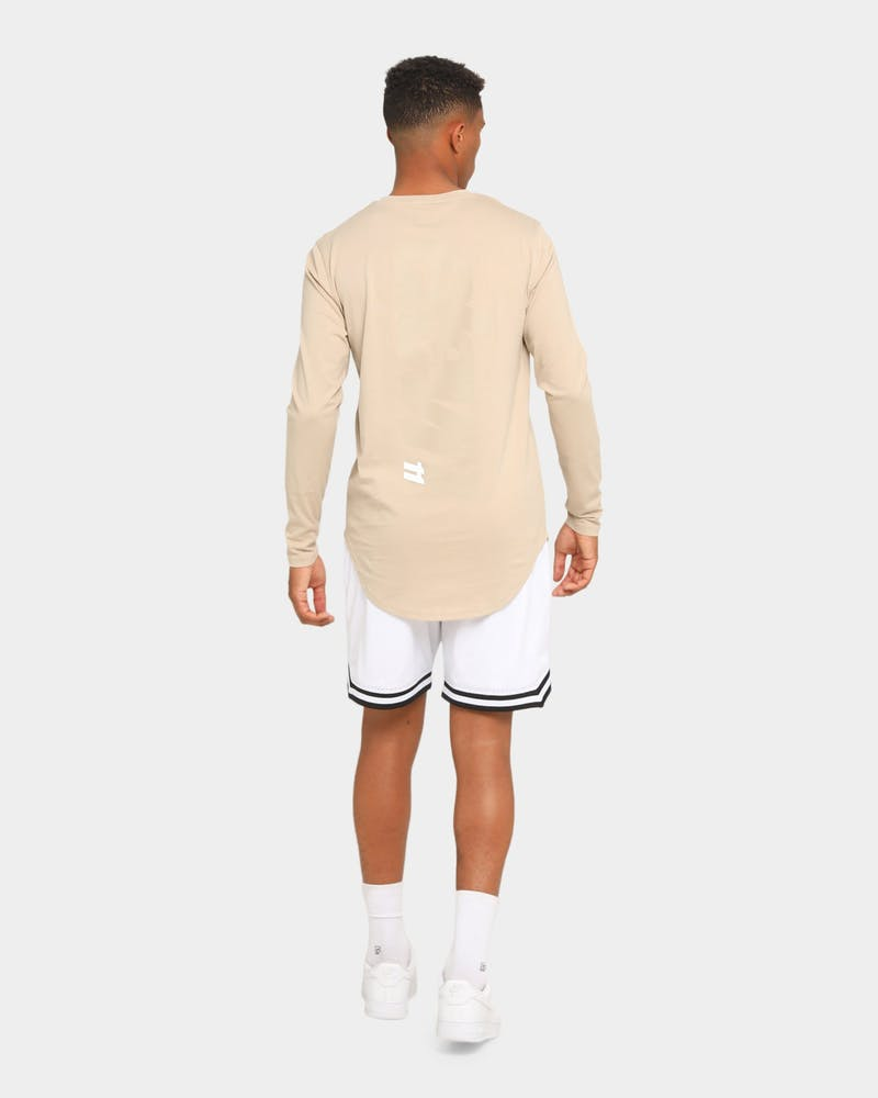 Elevn Clothing Co. Elementary Long Sleeve T-Shirt Beige