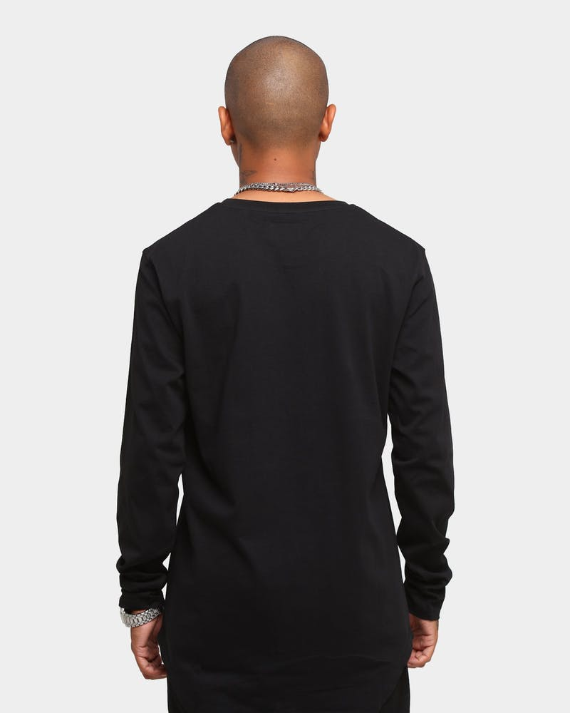 Elevn Clothing Co. Sideway Primitive Long Sleeve T-Shirt Black