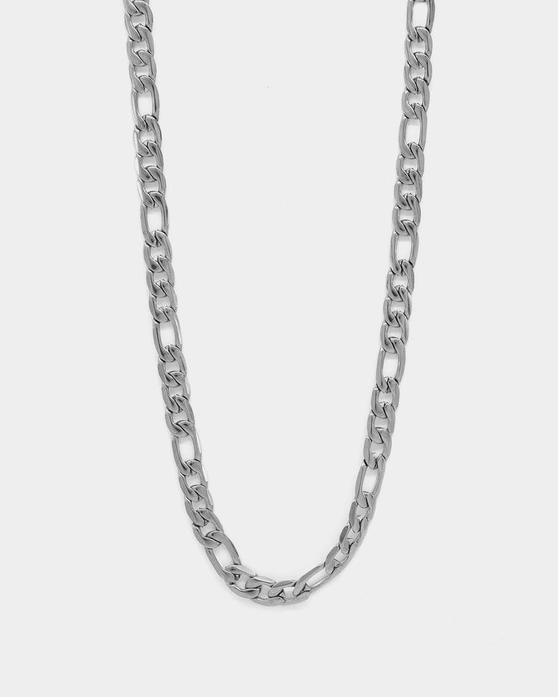 "Carré 5mm Figaro 20"" Chain Silver"