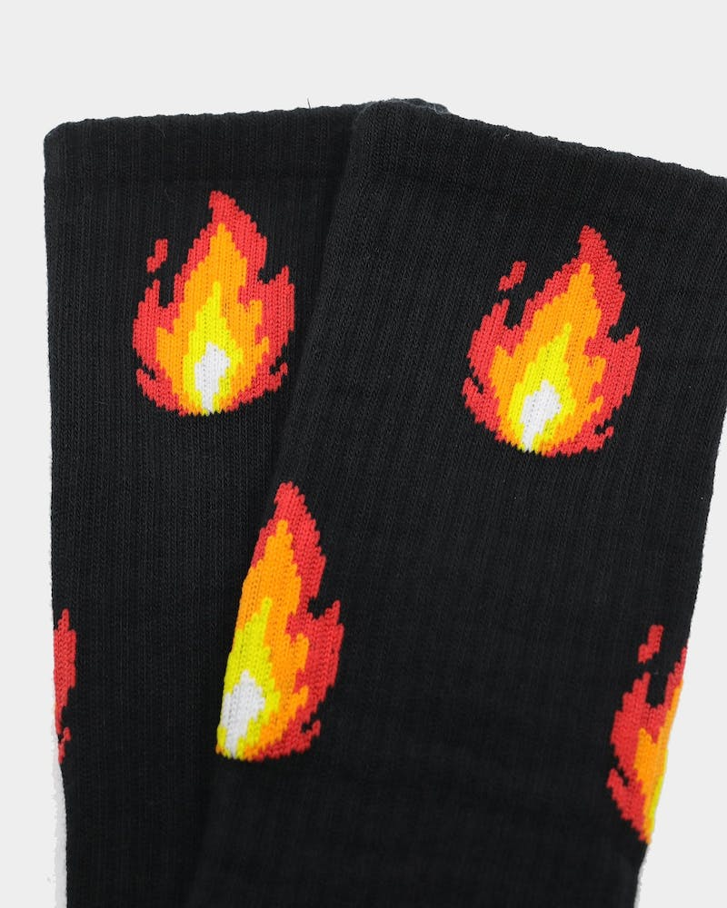 Goat Crew Men's Fire Socks Black