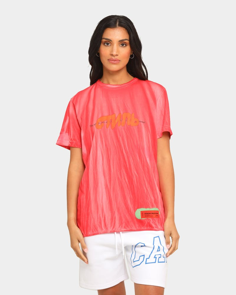 Heron Preston Spray СТИЛЬ Print Short Sleeve T-shirt Red