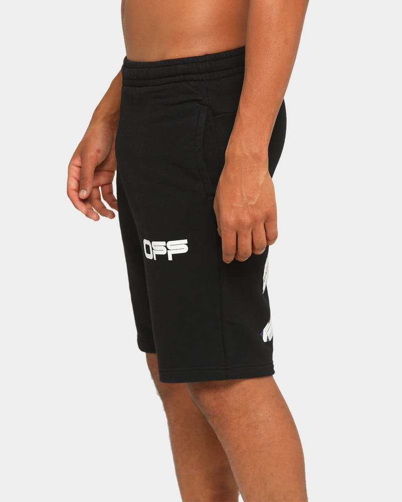 Off-White Airport Tape Sweatshorts Black