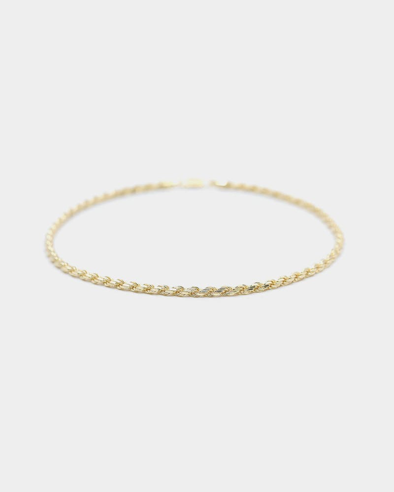 "Raising Hell Women's 16"" 4mm Rope Chain Choker 18K Gold Vermeil"