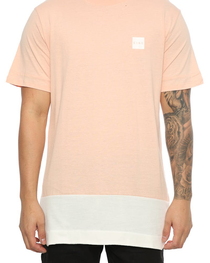 King Apparel Handgraft Tee (Midline) Pink/White