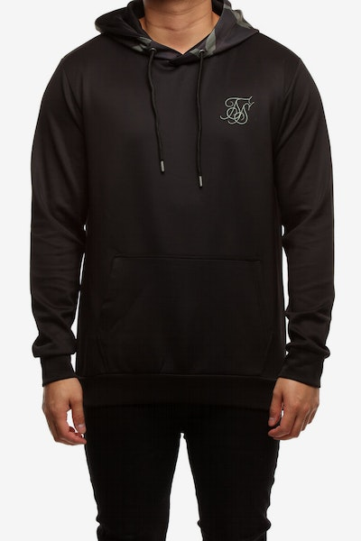 Sik Silk Overhead Poly Contrast Hoodie Camo/Black