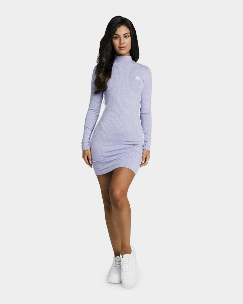 Sik Silk Women's Violet Rib Bodycon Dress Violet