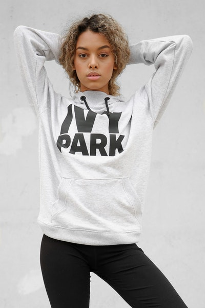 Ivy Park Logo Hoody Light Grey