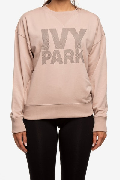 Ivy Park Dots Logo Crew Dark Grey