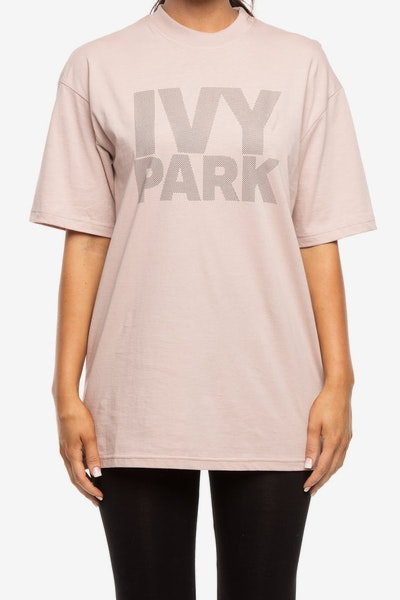 Ivy Park Dots Logo Fitted Tee Dark Grey