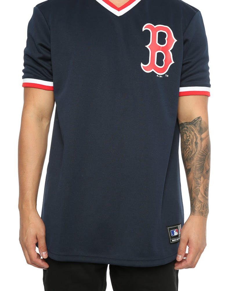 Majestic Athletic Red Sox Kabor V Neck Jersey Navy