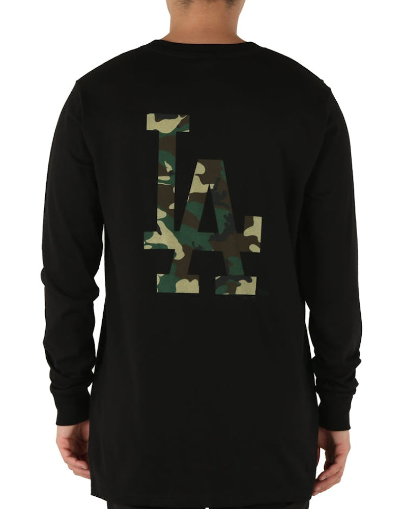 Mitchell & Ness Los Angeles Dodgers Levare Long Sleeve Tee Black/Camo