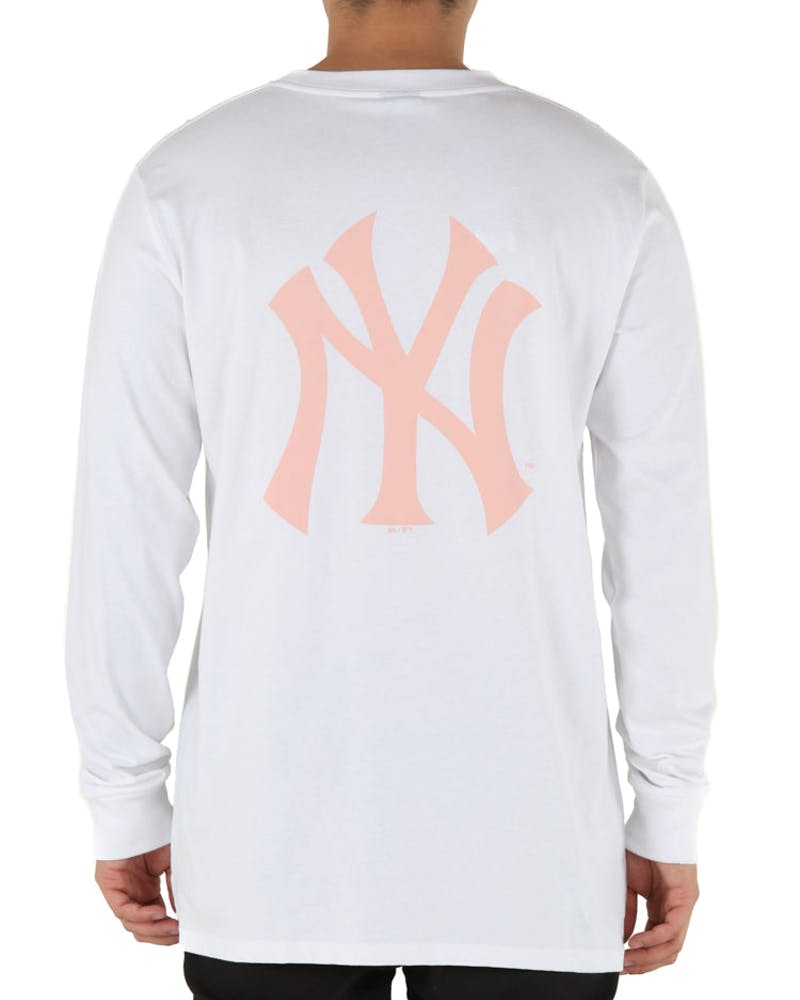 Majestic Athletic New York Yankees Levare L/S Tee White/Pink
