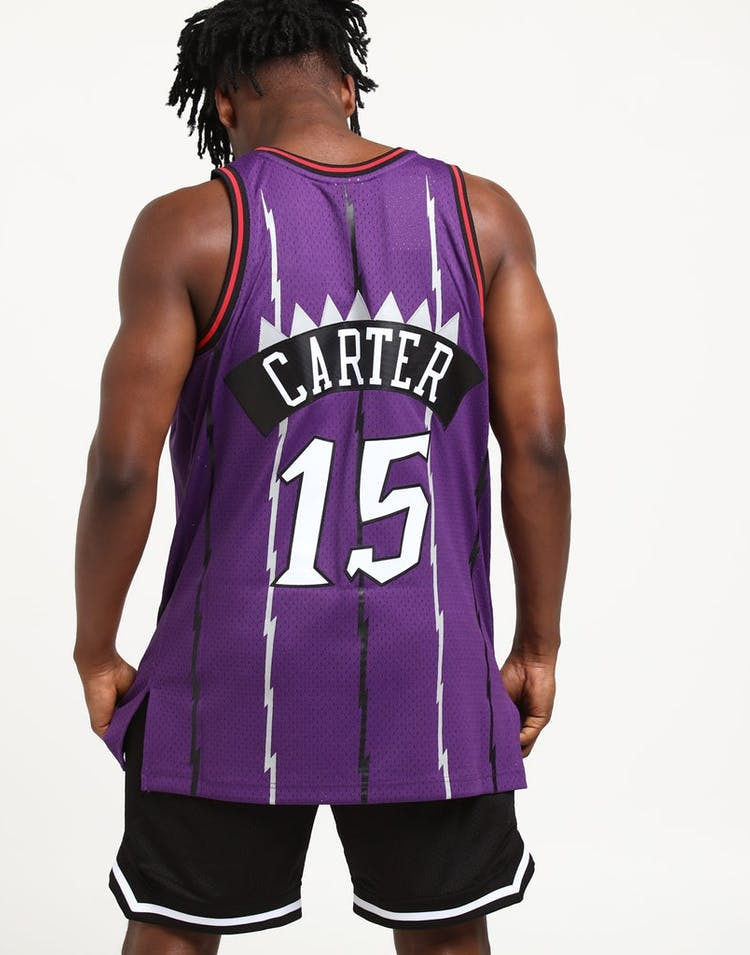 promo code f6799 032c6 Mitchell & Ness Toronto Raptors Vince Carter #15 Swingman Jersey Purple/Red