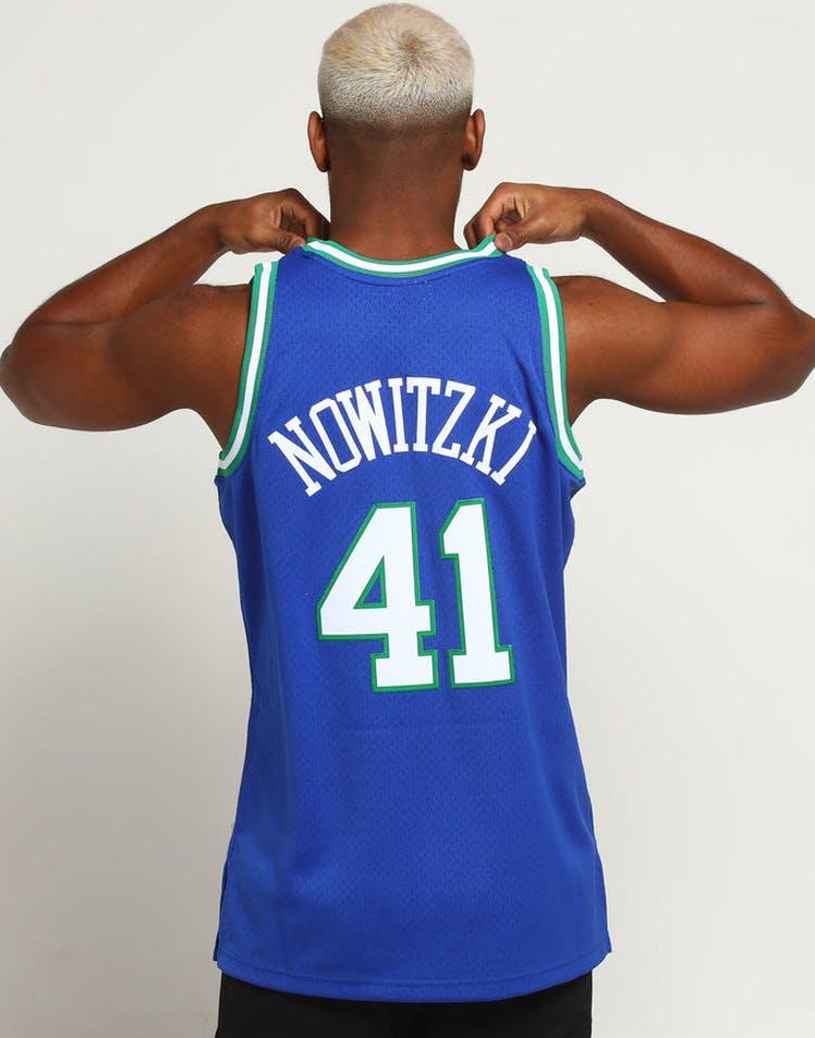 premium selection 376b4 e73d6 Mitchell & Ness Dallas Mavericks Dirk Nowitzki #41 NBA Jersey Navy