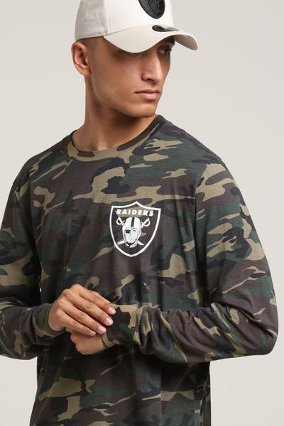 Majestic Athletic Oakland Raiders Vigar LS Tee Wood/White