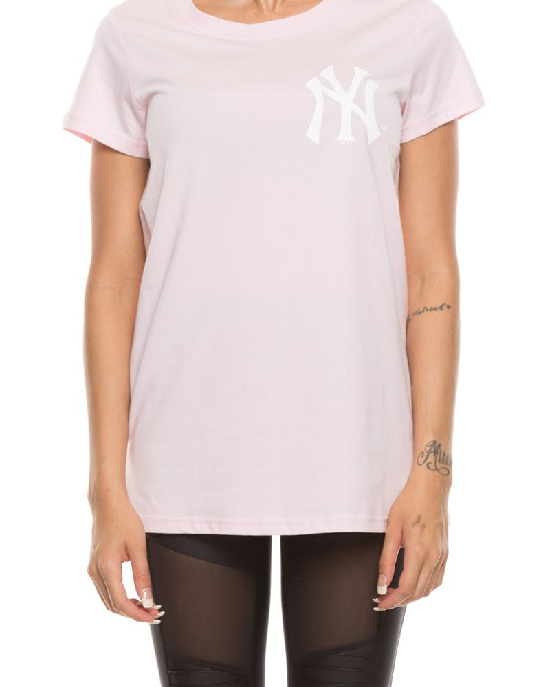 Majestic Athletic Women's Yankees Gamilia Standard Tee Pink