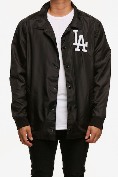 Majestic Athletic Los Angeles Dodgers Russo Coach Jacket Black
