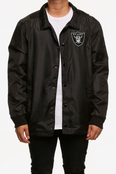 Majestic Athletic Oakland Raiders Russo Coach Jacket Black