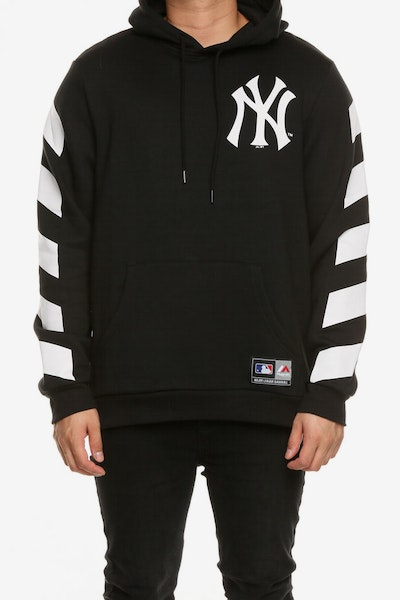 Majestic Athletic New York Yankees Stripe Sleeve Oth Hood Black