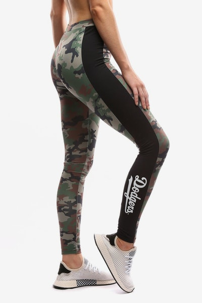 Majestic Athletic Women's Dodgers Panel Leggings Green Camo