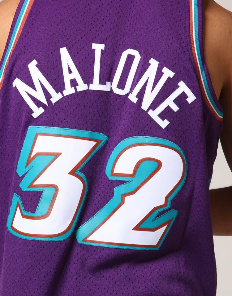 the latest ee13c e68ea Mitchell & Ness Utah Jazz Karl Malone #32 NBA Jersey Purple