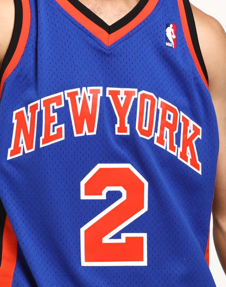 buy online b3fb4 255b8 Mitchell & Ness New York Knicks Larry Johnson #2 Swingman NBA Jersey Royal