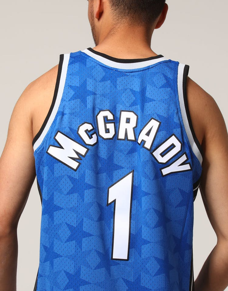 big sale 7ffb2 53796 Mitchell & Ness Orlando Magic Tracy McGrady #1 NBA Jersey Royal