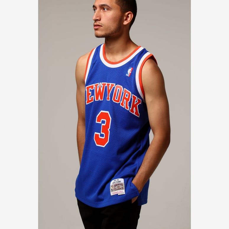 Mitchell   Ness New York Knicks John Starks  3 NBA Jersey Royal ... 95932fd4c