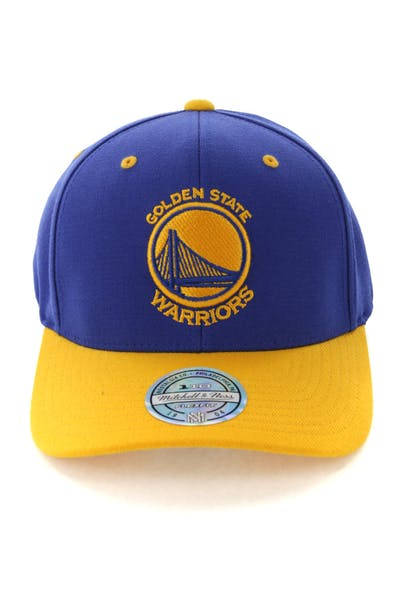 the latest d7899 8c912 Mitchell   Ness Golden State Warriors Team Logo 2 Tone 110 Snapback Royal  Yellow