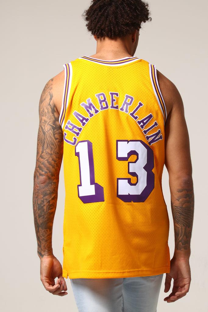 e527093c89b ... swingman nickname jersey gold  sweden mitchell ness los angeles lakers  wilt chamberlain 13 nba jersey yellow c0444 8de07