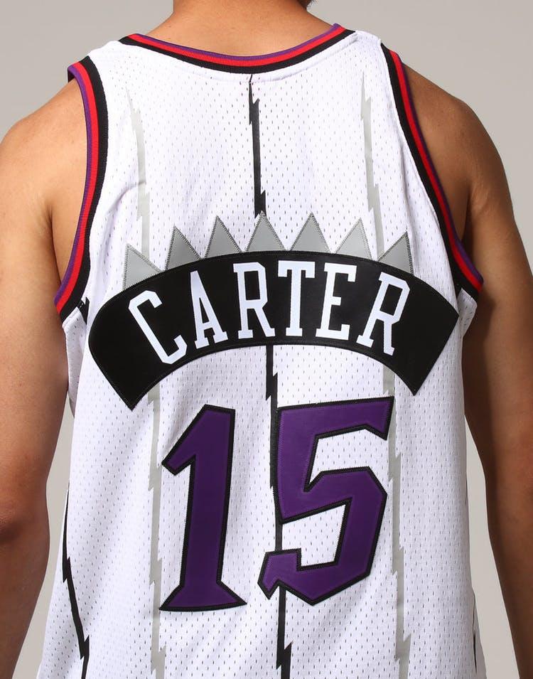 buy popular e612d a6791 Mitchell & Ness Toronto Raptors Vince Carter #15 NBA Jersey White