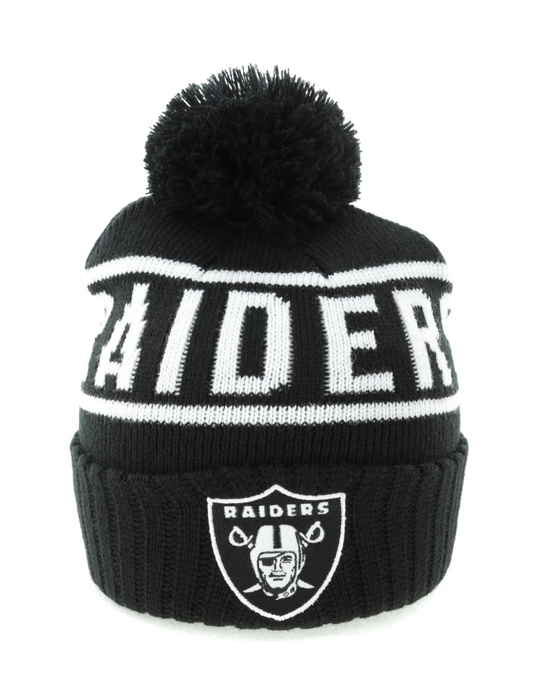 Mitchell & Ness Raiders Black & White Logo High 5 Beanie Black/White