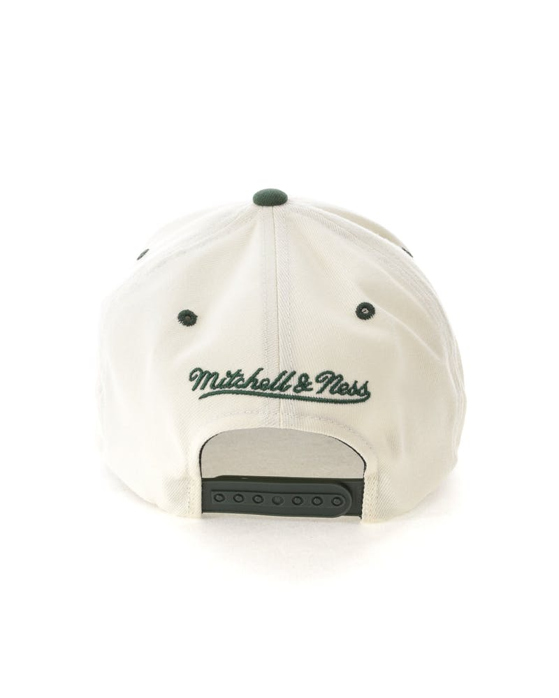Mitchell & Ness Green Bay Packers Script 110 Snapback White/Green