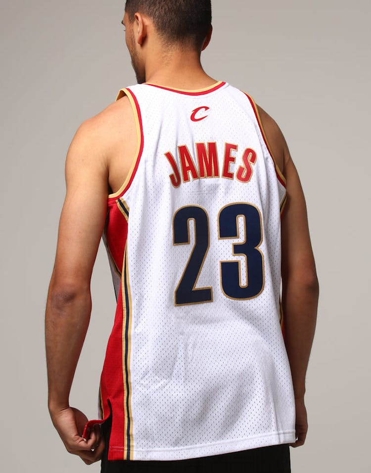 low priced 65547 6a99e Mitchell & Ness Cleveland Cavaliers Lebron James #23 NBA Jersey White/Red