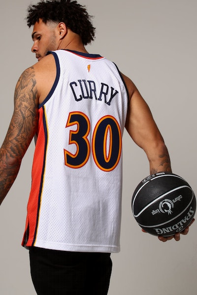 Mitchell & Ness Golden State Warriors Stephen Curry #30 NBA Jersey White