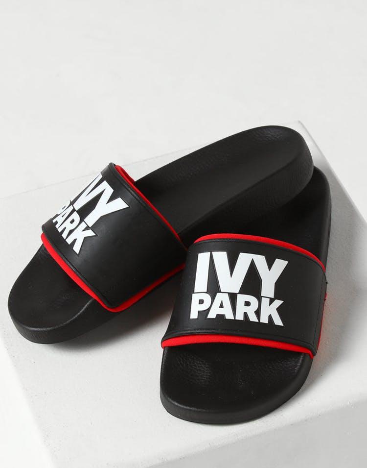 c9001c03d8de Ivy Park Stacked Logo Red Neo Sock Slide Black – Culture Kings US
