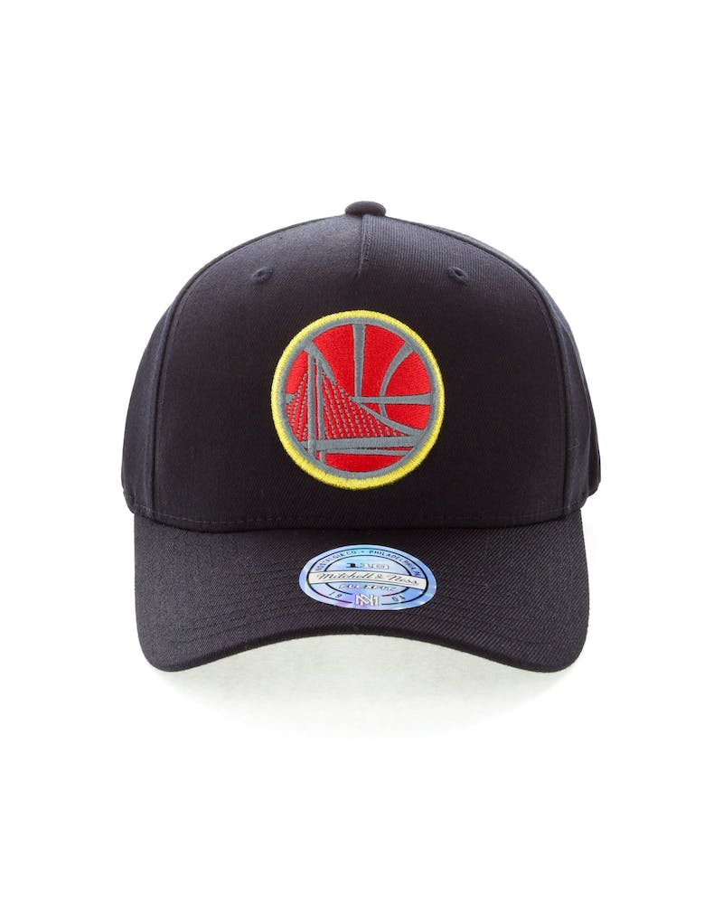 Mitchell & Ness Golden State Warriors Team 110 Pinch Snapback Black/Red/Green