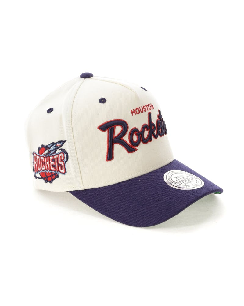 Mitchell & Ness Houston Rockets Script 110 Snapback White/Navy