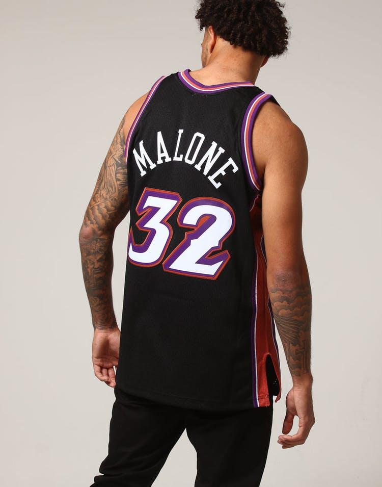 bd2cfc3d Mitchell & Ness Utah Jazz Karl Malone #32 NBA Jersey Black – Culture ...