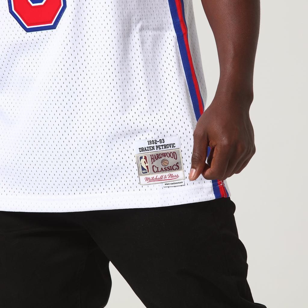Mitchell & Ness New Jersey Nets Drazen Petrovic #3 NBA Jersey White